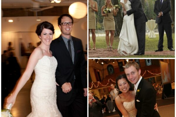 Why are these couples smiling?  Devour catered their weddings!